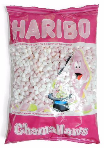 Q81  HARIBO PINK AND WHITE MALLOWS 1kg
